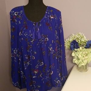 OLD NAVY beautiful bright blue floral tunic